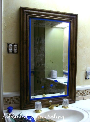 Blue Framed Bathroom Mirrors framed mirror from builders-grade plate glass mirror
