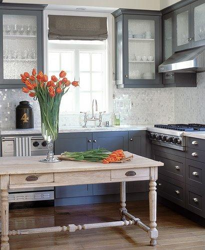 More Beautiful Gray Kitchens - Beautiful gray kitchens