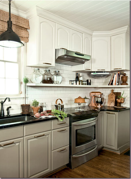kitchen+inspiration+gray+lower+cabinets+white+upper+cabinets png