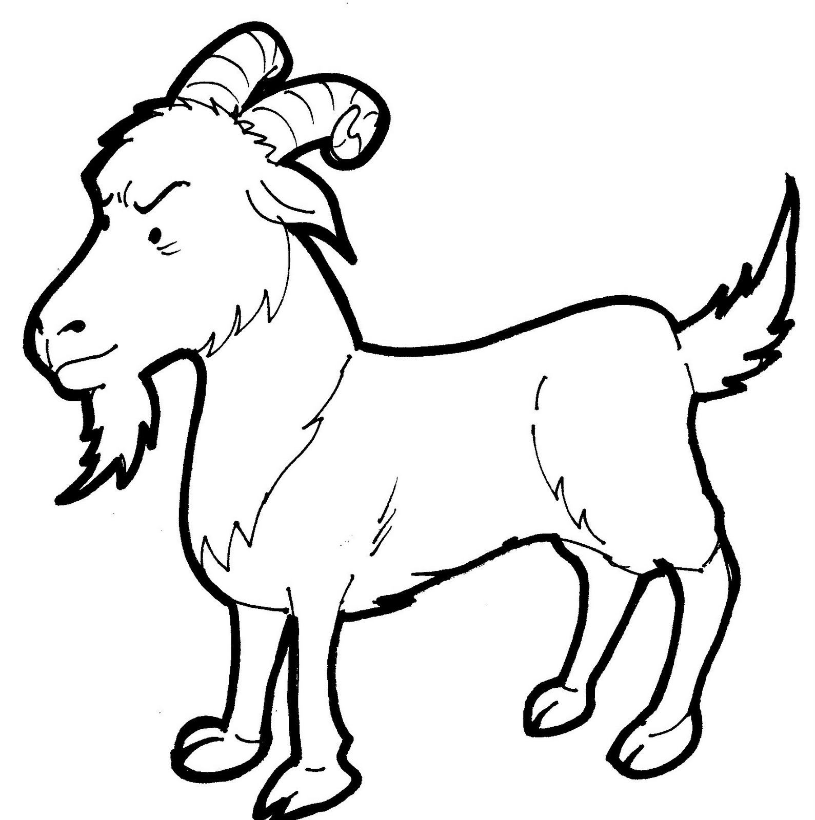 Vintage Fashion Coloring Page as well Other Goat Drawings further Desenhos De Cabras Para Colorir in addition Coloring Cartoon Animals together with Goat Coloring Pages. on goat coloring pages