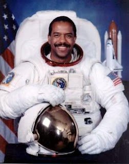 Benard Harris in Space Suit