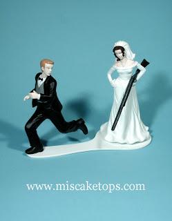 bride with shotgun