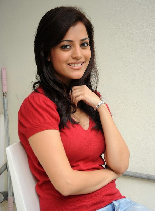 Telugu Actress Nisha Agarwal Sexy Boobs and Cleavage Show Stills wallpapers