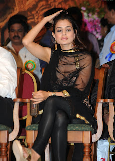 Amisha Patel in Shining black Churidar at a Tollywood Event