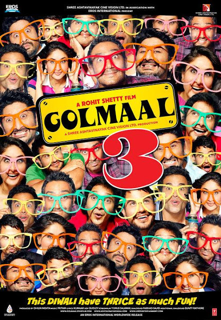 Golmaal 3 (2010) PDVD HB - Ajay Devgn, Kareena Kapoor, Arshad Warsi, Tusshar Kapoor, Mithun Chakraborty, Ratna Pathak, Shreyas Talpade, Kunal Khemu, Johny Lever, Sanjay Mishra, Vrajesh Hirjee, Ashwini Kalsekar, Murli Sharma, Mukesh Tiwari, Vijay Patk
