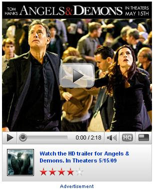 'Angels & Demons' YouTube Trailer