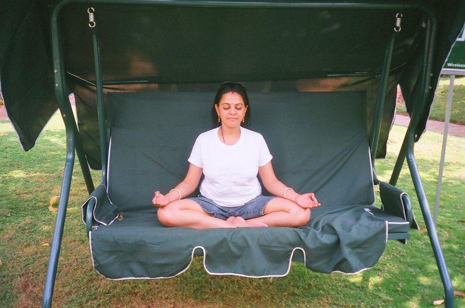 [meditating]