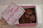Caixinha de cookies de chocolate
