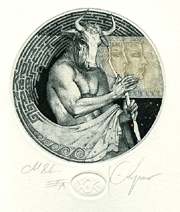 Minotaure and Labyrinth