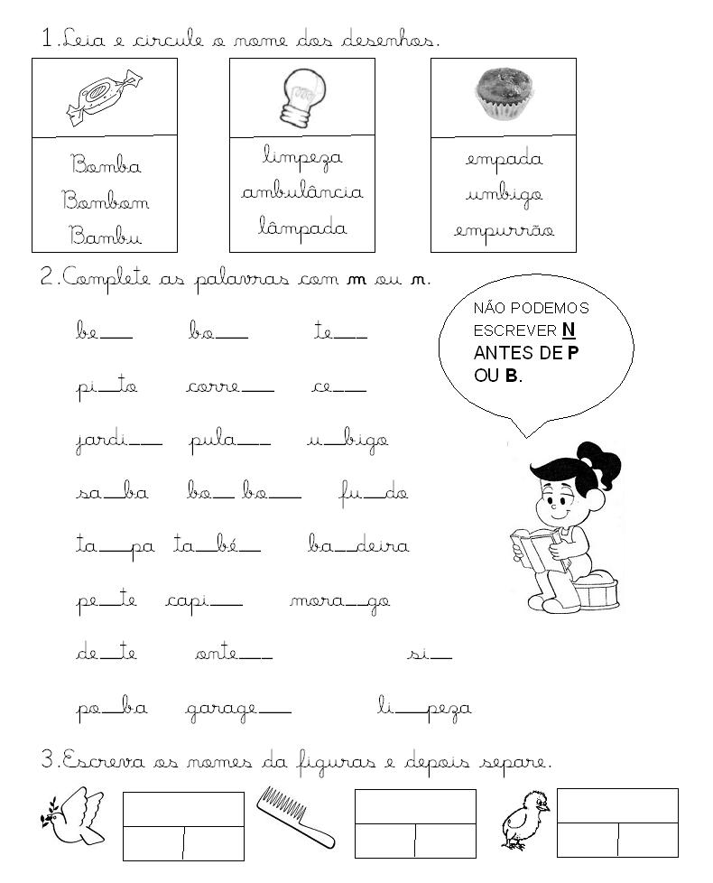 Portugu  S   Antes P E B Escreve M