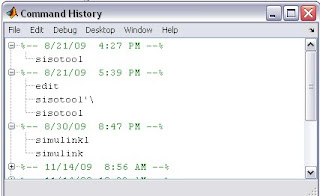 matlab command history