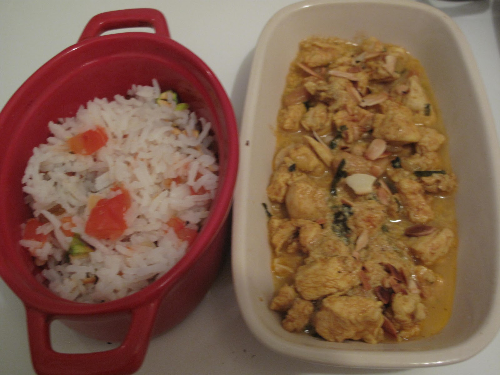gourmandises homecooked plat indien traditionnel poulet korma et riz pulao. Black Bedroom Furniture Sets. Home Design Ideas