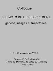 Les mots du développement