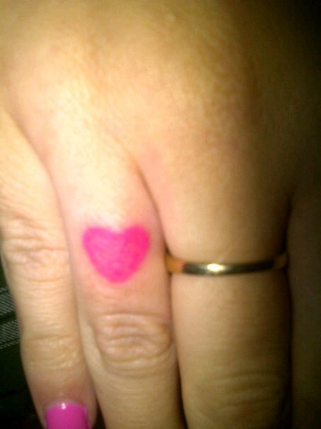 small heart tattoos on hip. Love Heart Tattoo Designs On