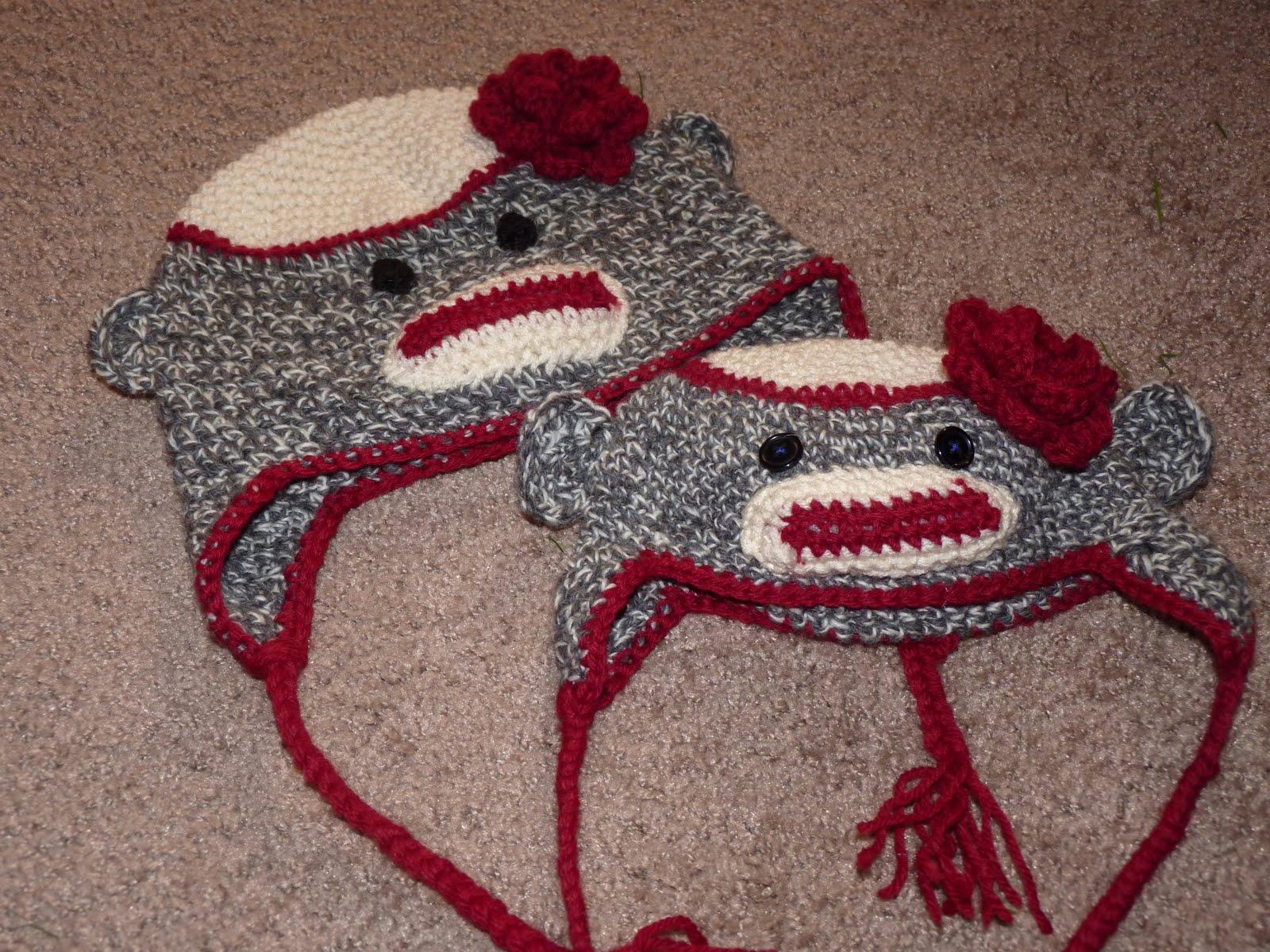 Free crochet patterns for sock monkey hat manet for crochet sock monkey hats sweet t makes three free crochet patterns bankloansurffo Images