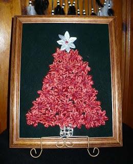 Donna lee 39 s blog poinsettia silk framed christmas tree for Poinsettia christmas tree frame
