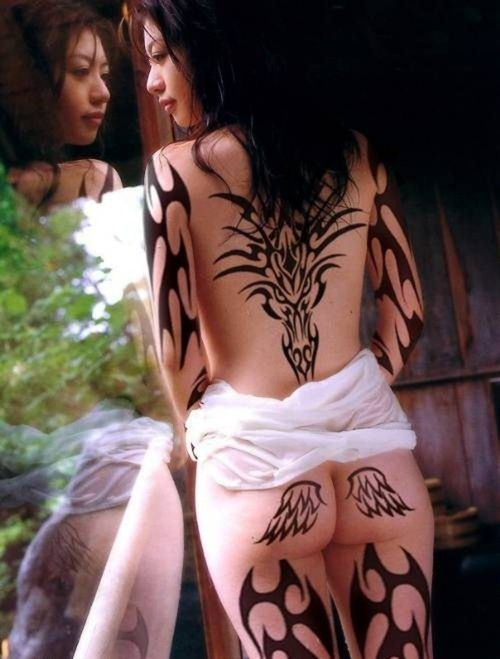 tattoo on back of leg. Forearm Tribal Tattoos
