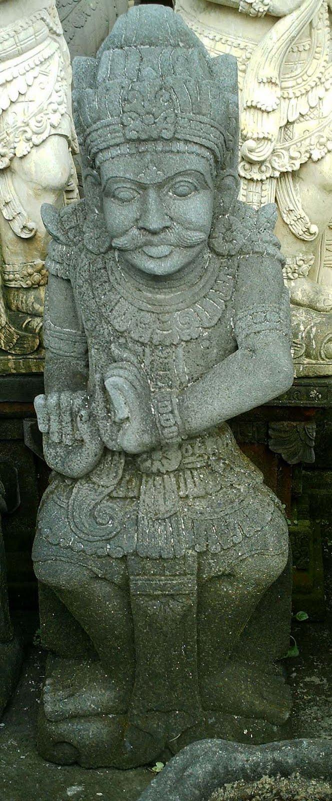 Stone garden statues arjuna