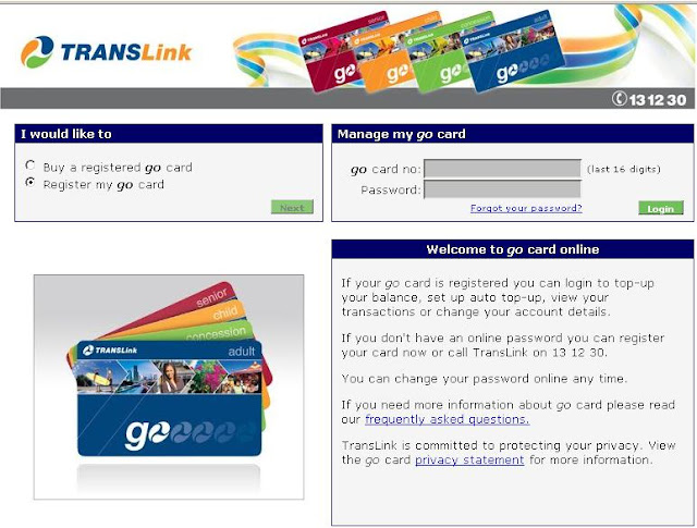 Translink Go Card - Register & Login to Manage MY GO Card Online