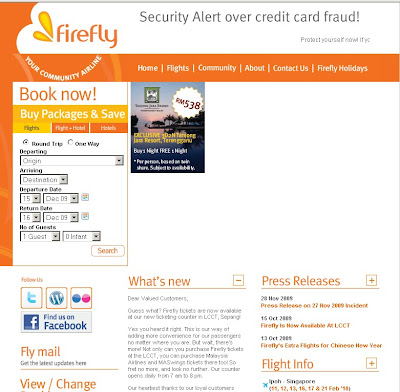 Firefly airlines Malaysia : online booking & schedule : fireflyz.com.my