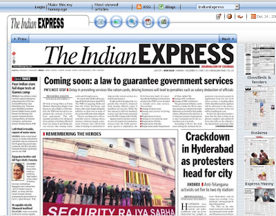 Online newspaper at epaper.indianexpress.com