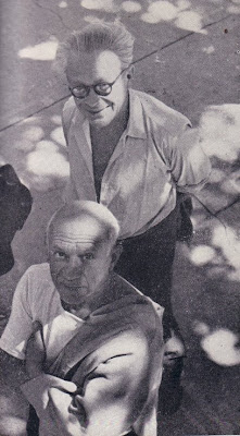 Tzara and Picasso at Vallauris, 1950