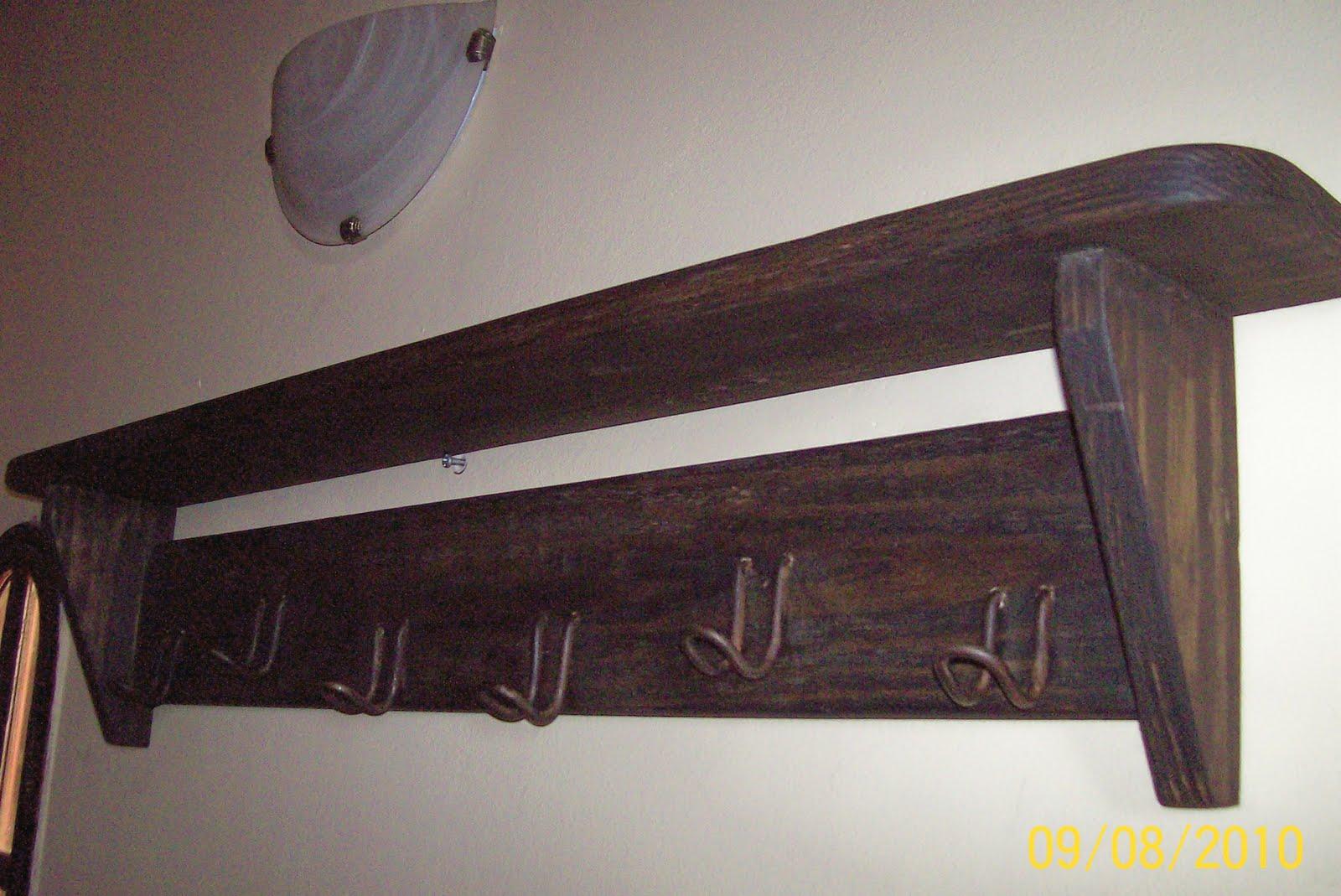 Enhierroymadera estante perchero de madera - Percheros en madera ...