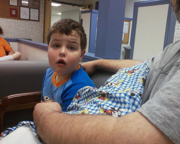 Eli got his tonsils out in June 2010