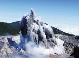 """Erupciòn del Volcan Poàs """"1954"""""""