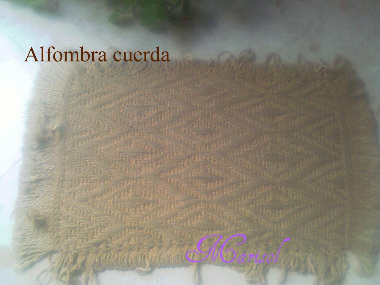 Blog manualidades marisol alfombra de cuerda - Alfombras de cuerda ...