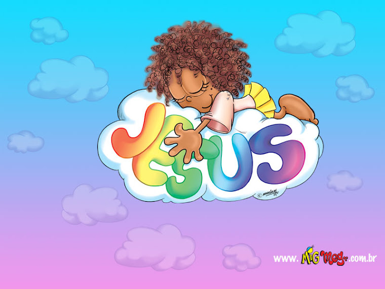 Com Jesus eu fico nas nuvens!