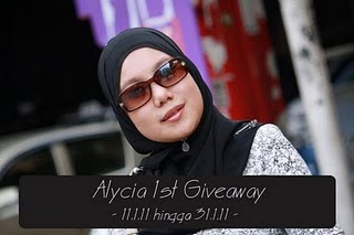 Alycia 1st Giveaway ...