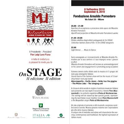 OnStage Invito 8Sept MILANO è UNICA