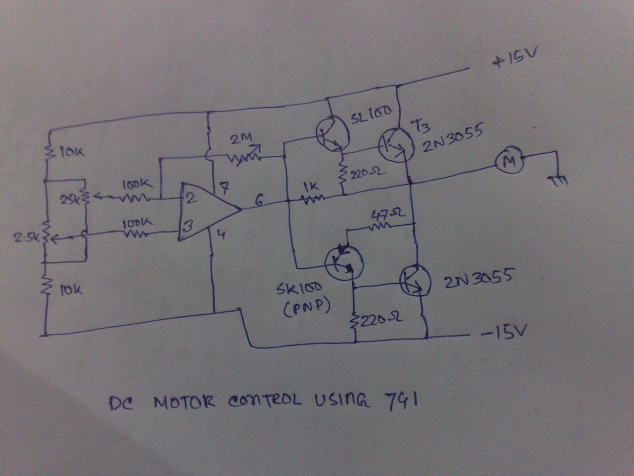 DC motor Control using op-amp | Hobby Project