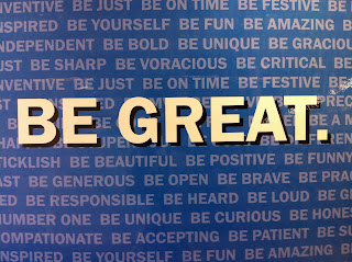 Be Great, A Visual How To: