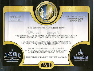 Lori pori what 39 s the story for Jedi certificate template free