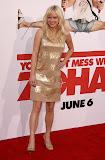 Anna Faris in Golden Dress