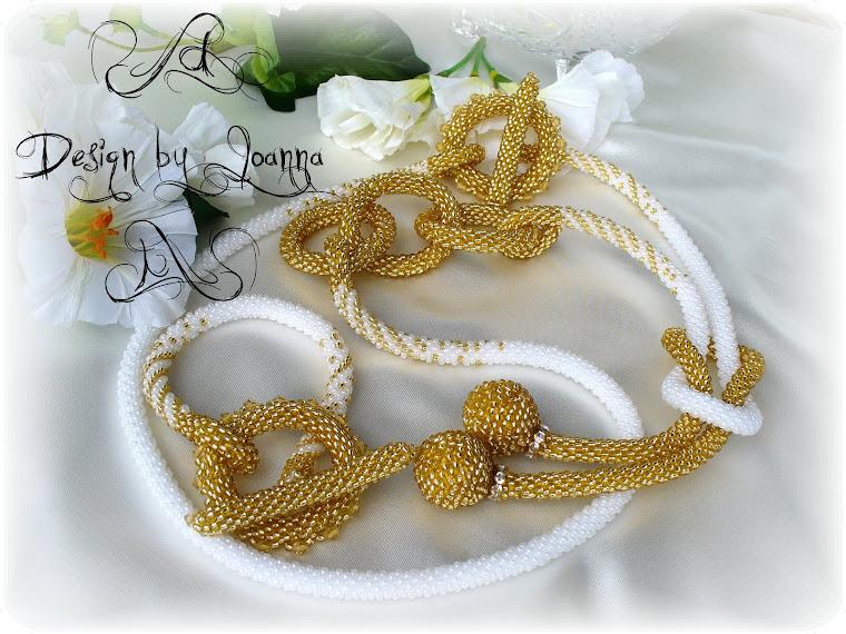 Weiss-Gold lange Kette und Armband...