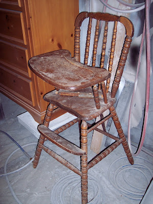 The Frosted Gardner The Hoffman High Chair Custom Refinish