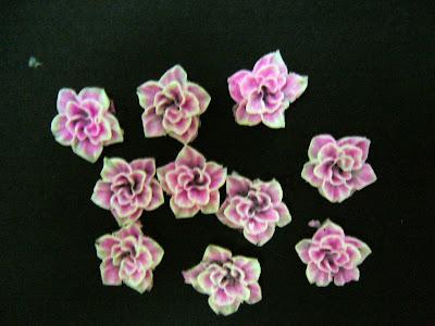 3D pink flower nail art