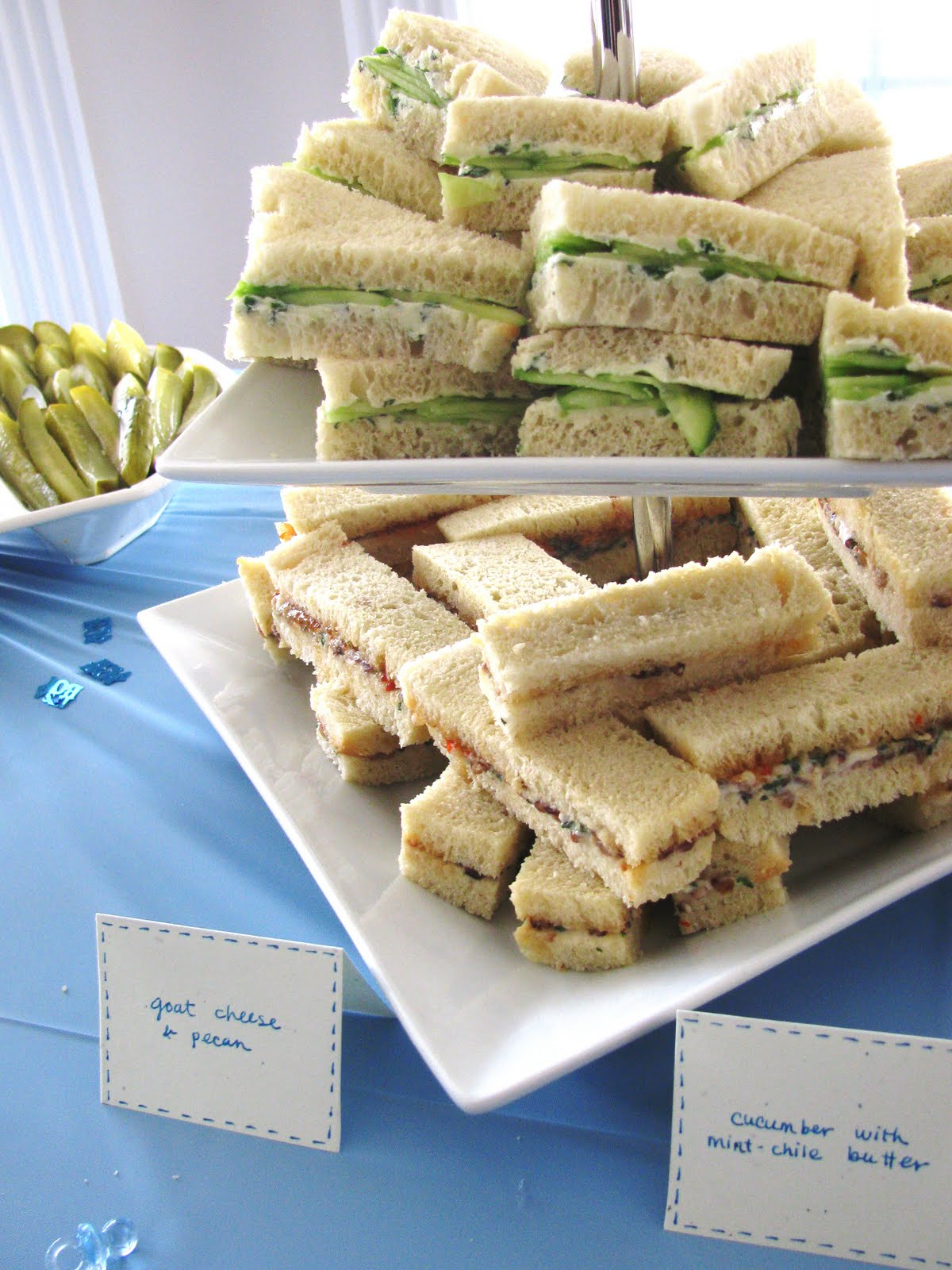 foodie family tea sandwiches cookies and baby showers