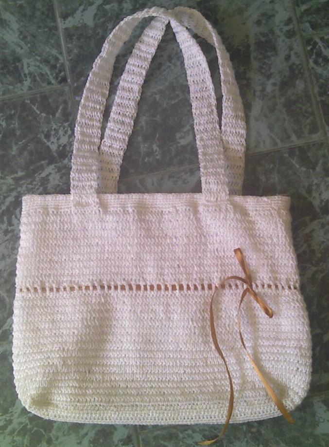 Creaciones chispas lindo bolso tejido en crochet - Como hacer bolsos tejidos ...