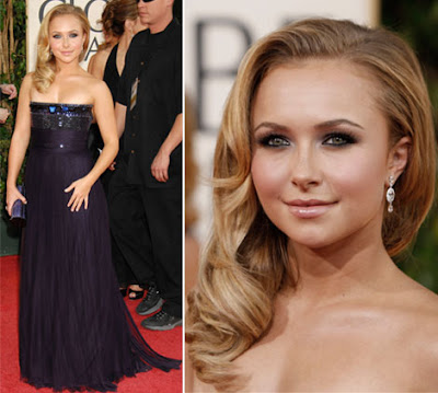 golden globes makeup. Golden Globes hairstyle special: Hayden Panettiere