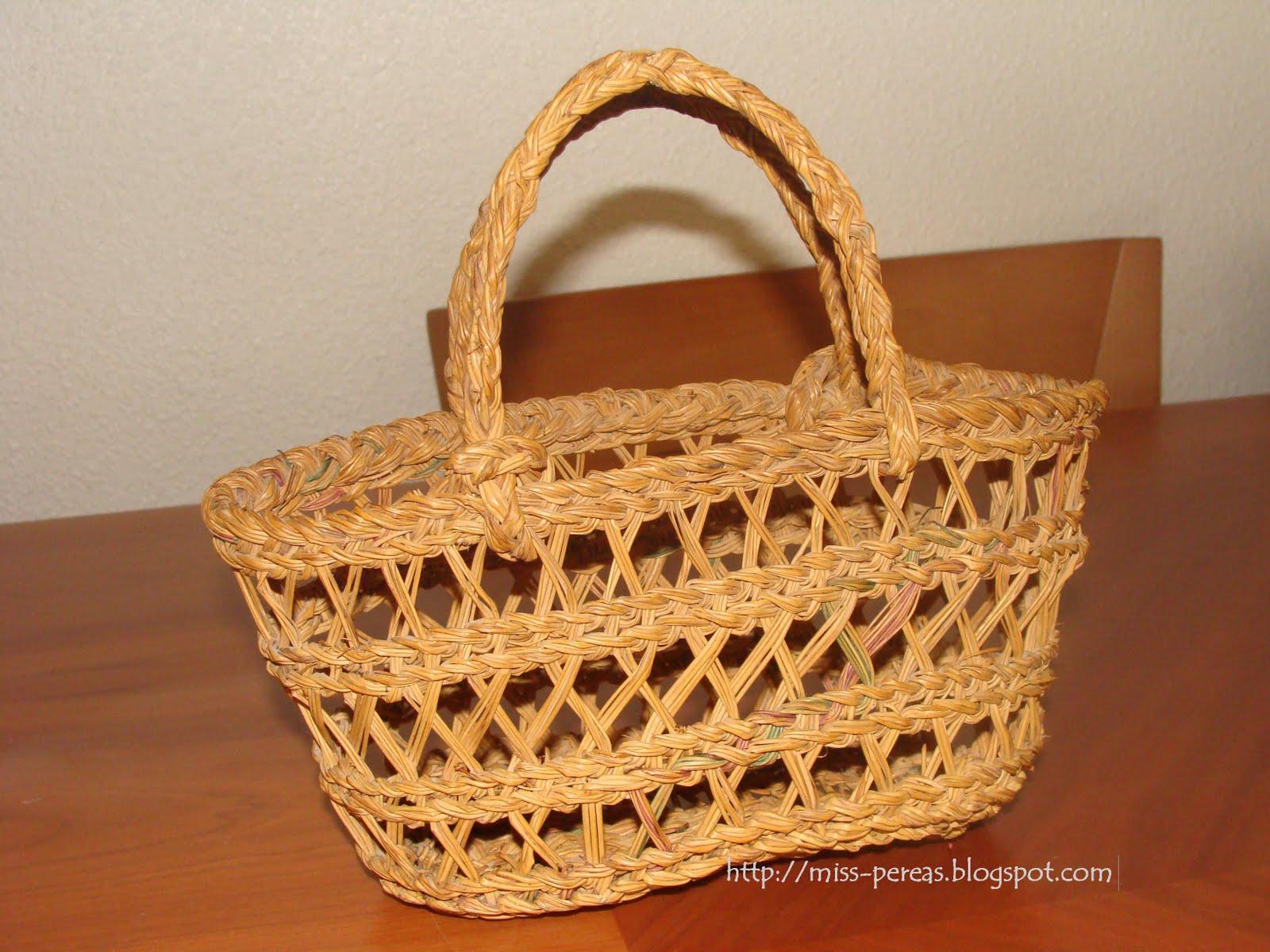 Miss perea 39 s cesta de esparto - Cestas de esparto ...