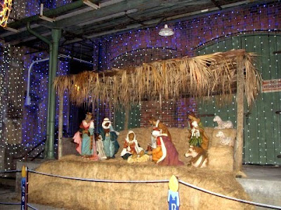 We were so happy to see this large Nativity scene at Disney World! It
