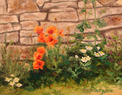 Poppies by the Wall