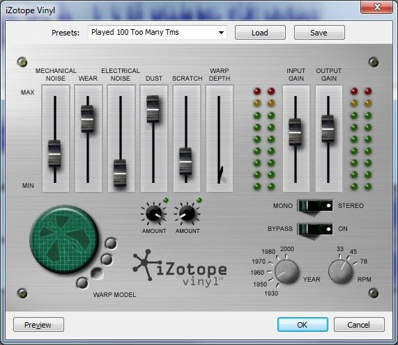 Peter S Notes Using Izotope Vinyl With Audacity In