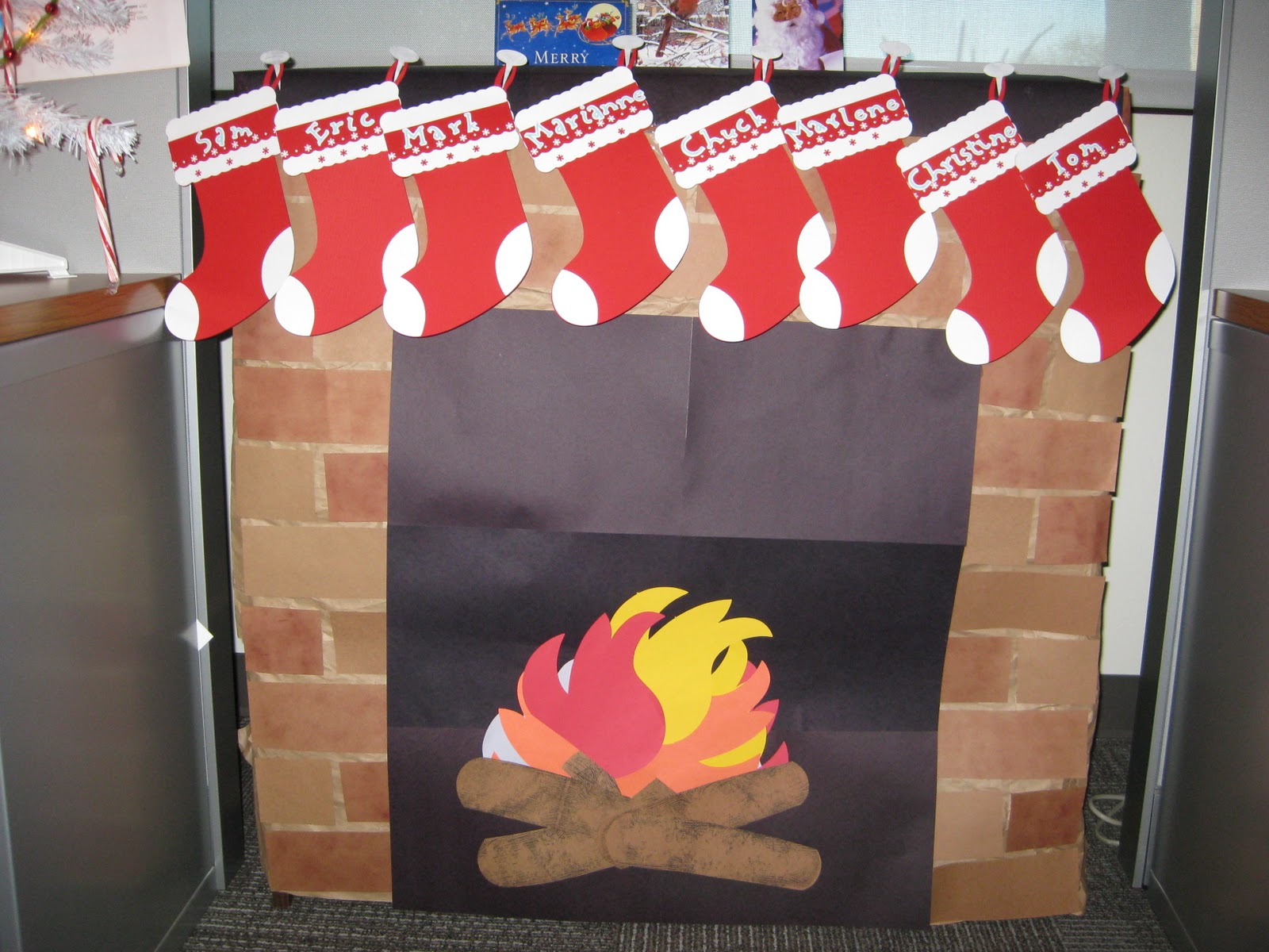 How To Make A Paper Fireplace For Christmas Out Of