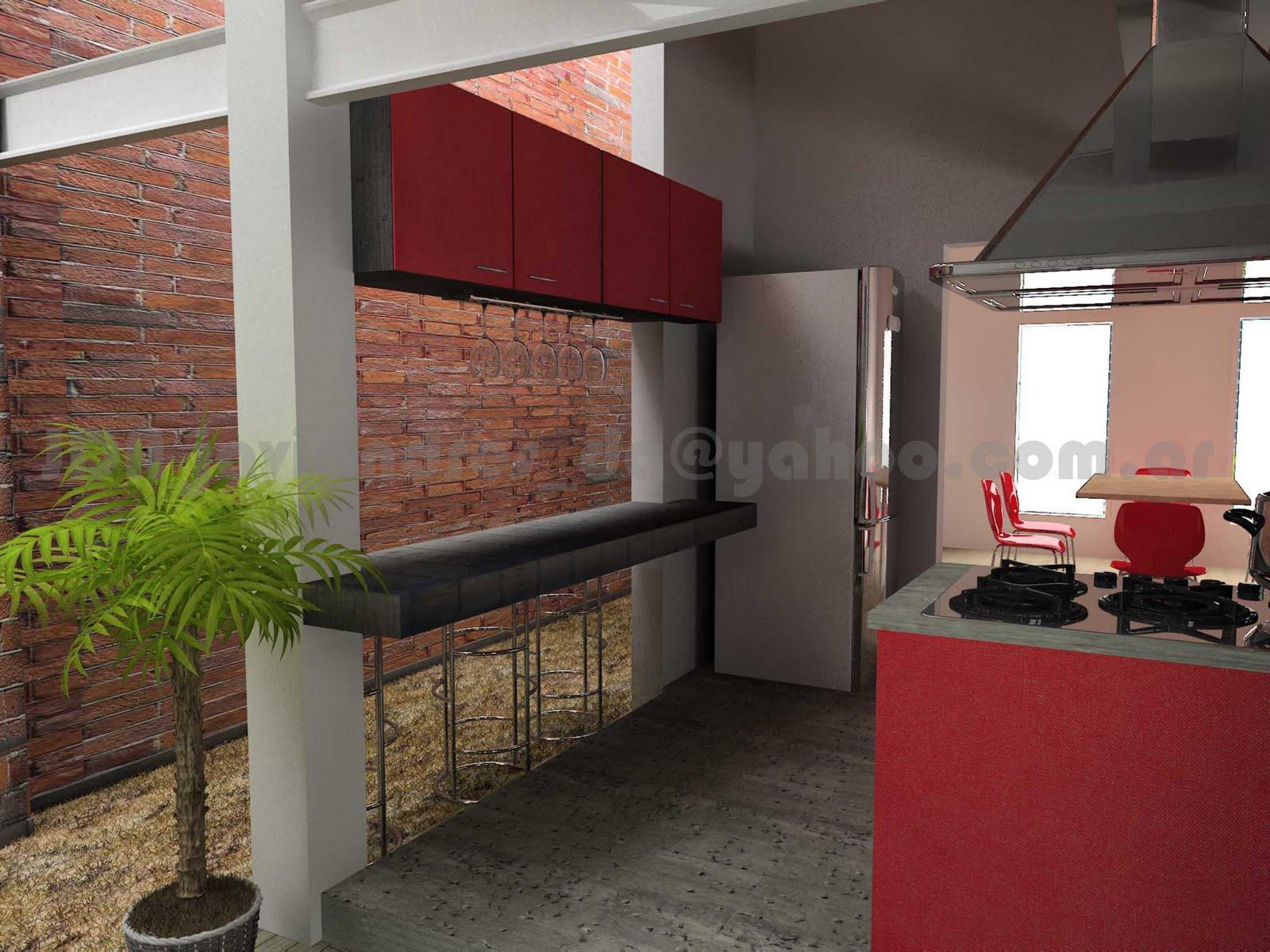 arquitec-maquetas: Remodelación 3d: Casa Chorizo en Baires.