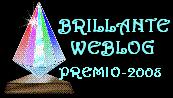 1 PREMIO BRILLANTE WEBLOG
